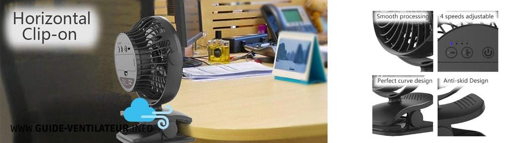 ventilateur bureau USB AngLink