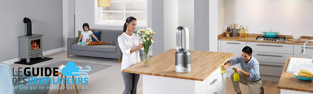 Ventilateur sans pale Dyson Pure HOT+COOL Link