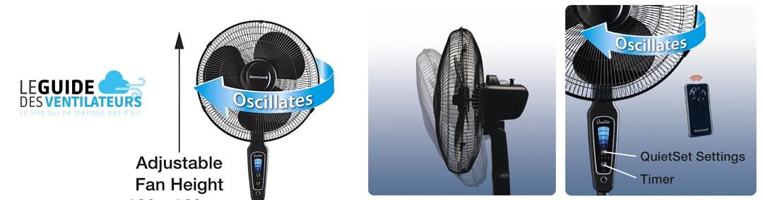 ventilateur sur pied Honeywell HT1655E4 QuietSet