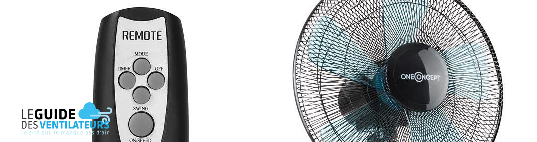 ventilateur silencieux OneConcept Black Blizzard