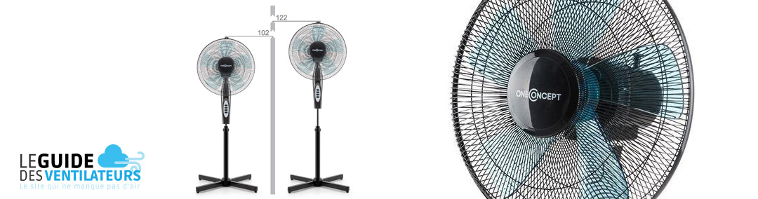 ventilateur OneConcept Black Blizzard