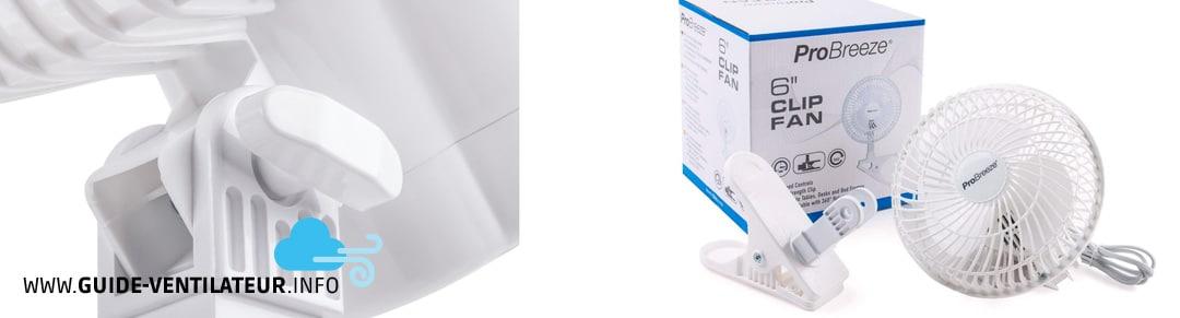 ventilateur bureau Pro Breeze
